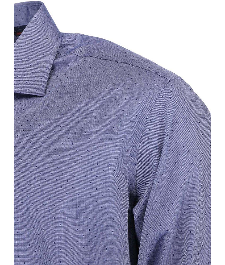 Tmavě modrá vzorovaná košile Seven Seas Denzel