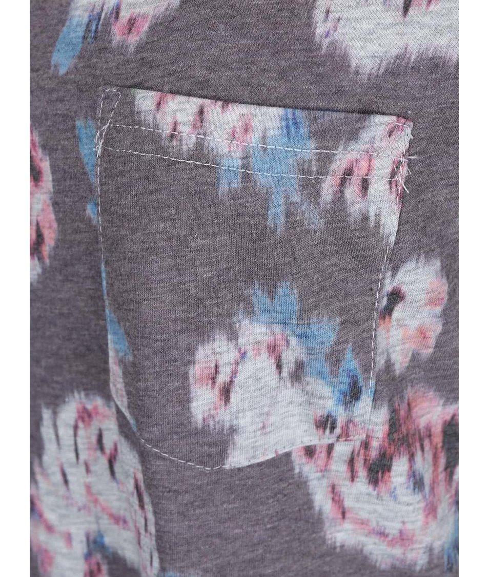 Šedý květovaný top Rip Curl Kelly