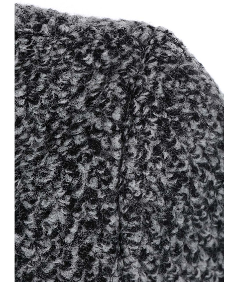 Černo-šedý kabát s límcem Vero Moda Energy