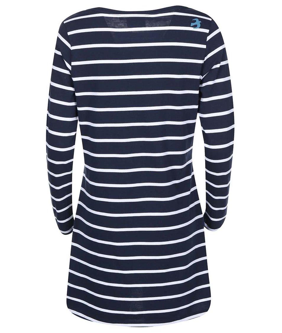 Modré šaty s bílými proužky a kapsami Brakeburn Yarn