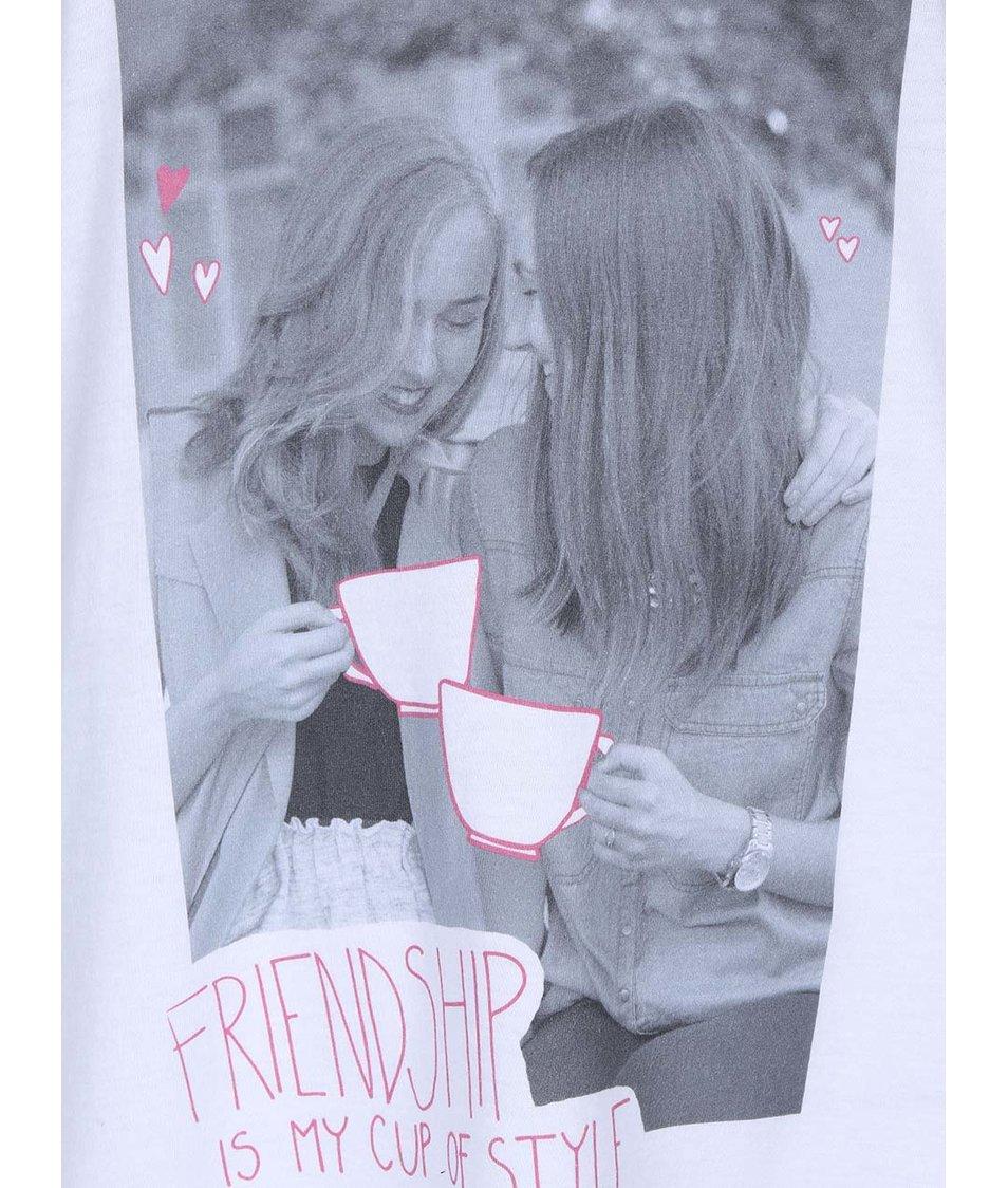 Bílé dámské tílko A CUP OF STYLE Friendship