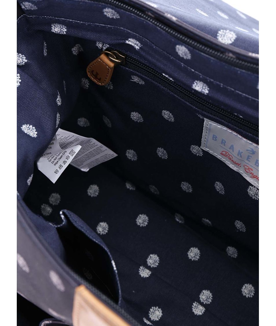 Tmavě modrá aktovka s puntíky Brakeburn Polka Dot