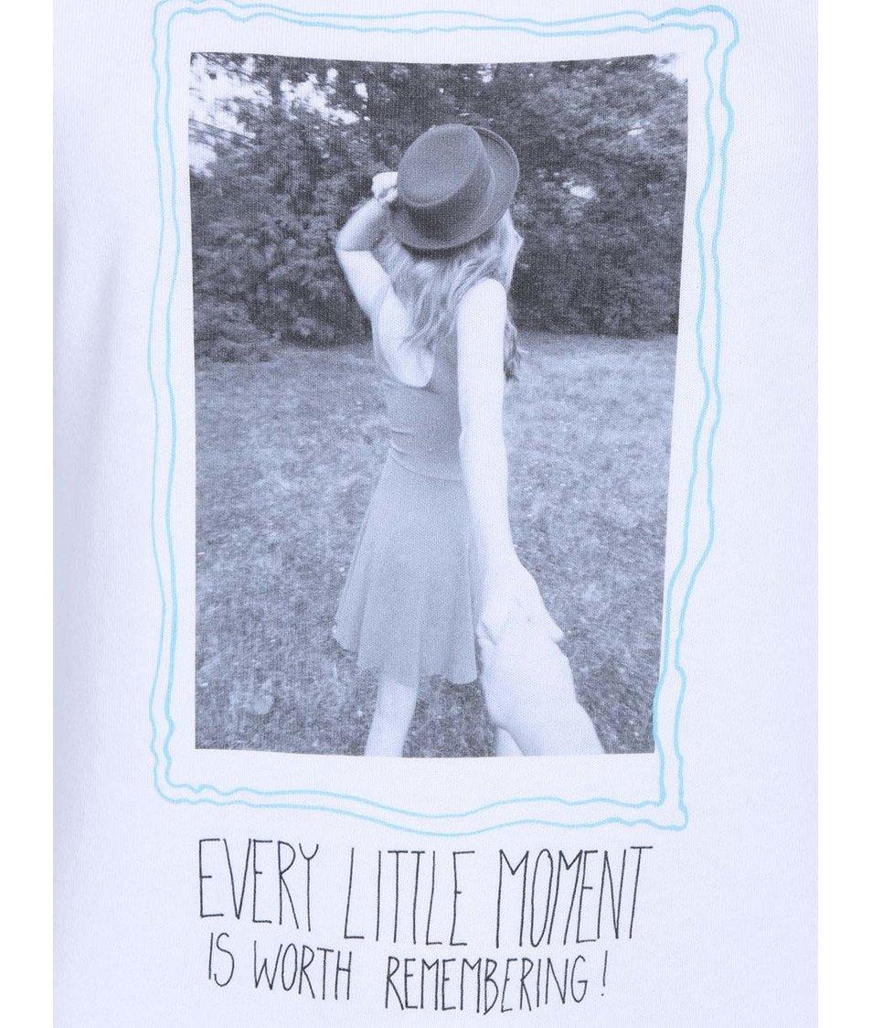 Bílá dámská mikina A CUP OF STYLE Every Little Moment