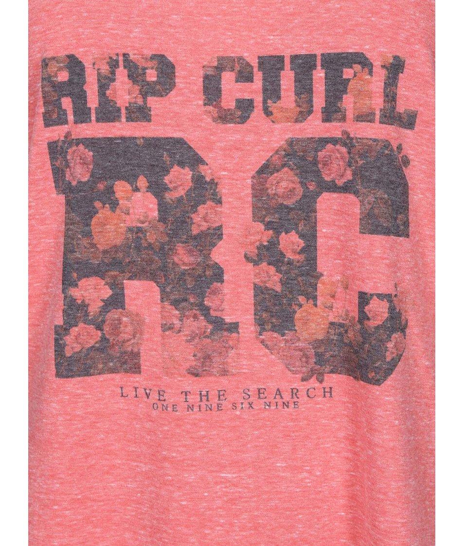 Korálový žíhaný top s barevným potiskem Rip Curl Laura