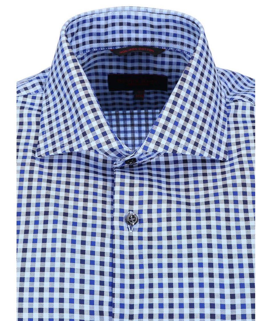 Modrá kostkovaná košile Seven Seas Freeman