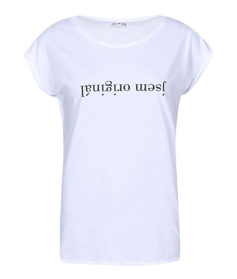 Bílé dámské tričko THE BLONDIEVERSE Jsem originál