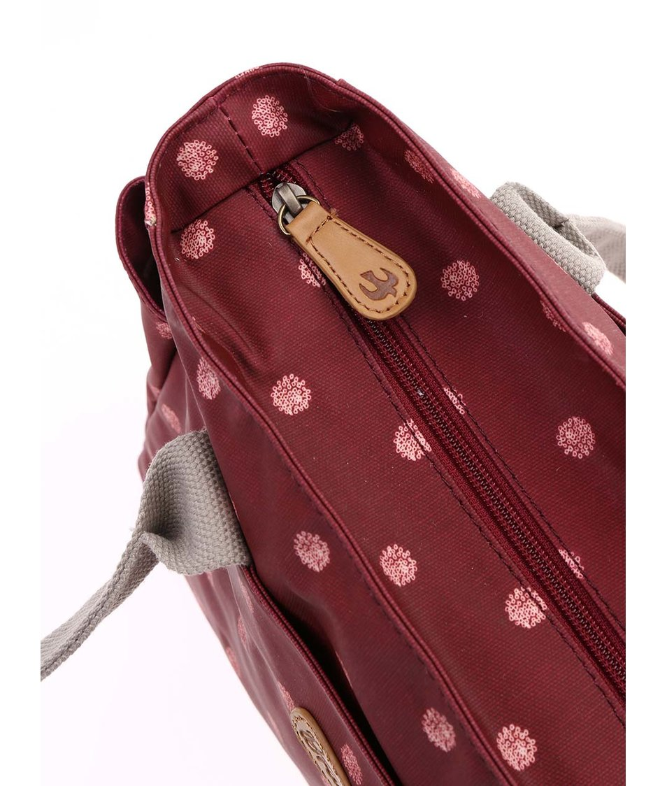 Vínová kabelka s potiskem Brakeburn Polka Dot