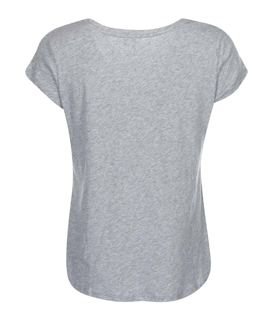 Šedé dámské triko barevným potiskem Rip Curl Izia