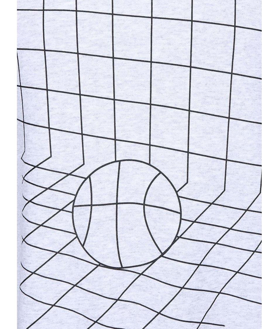 Světle šedá pánská mikina KUBA FERANEC Basket