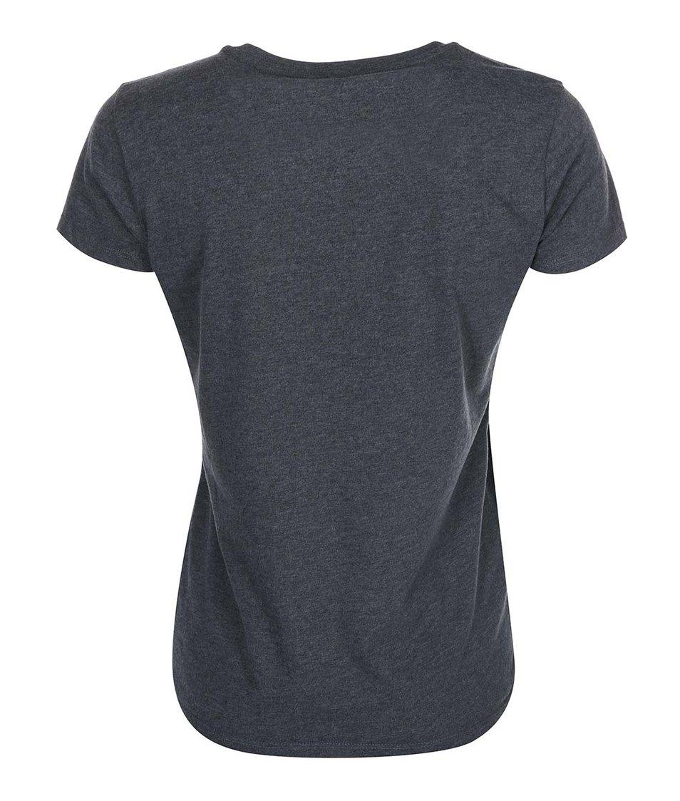 Tmavě šedé dámské tričko potiskem Rip Curl Kalmah