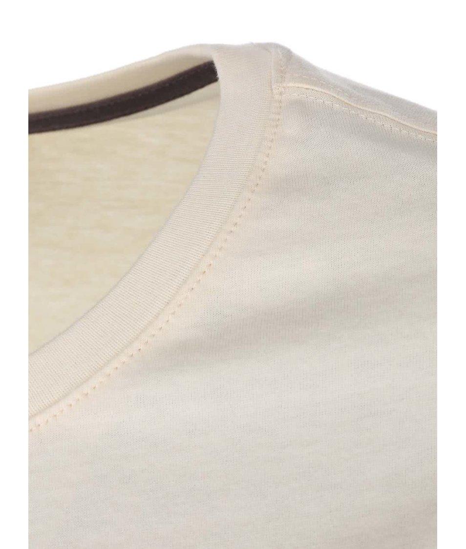 Krémové dámské tričko potiskem Rip Curl Kalmah