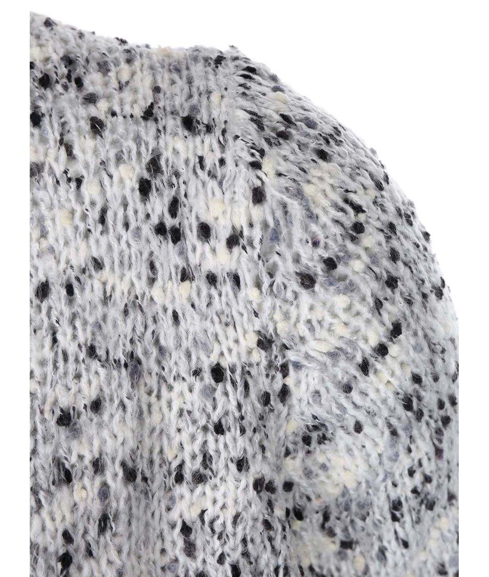 Béžový cardigan s šedým žíháním Vero Moda Mila