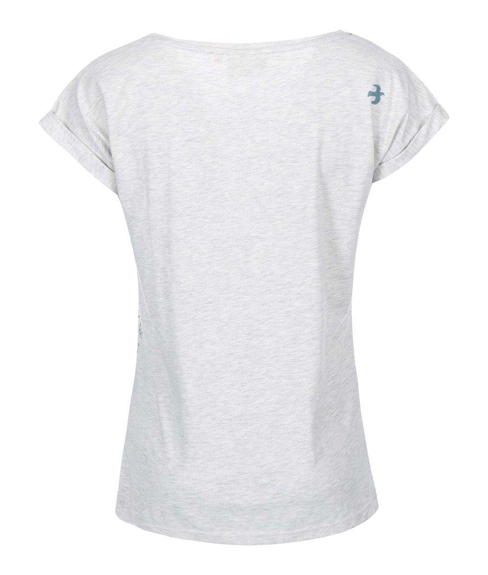 Šedé dámské tričko s potiskem lístků Brakeburn Abstract Leaf