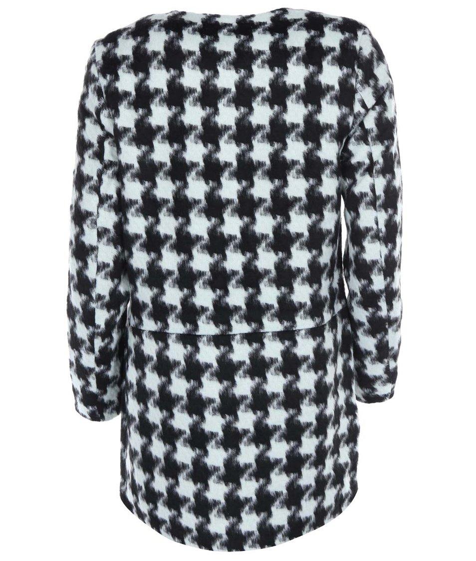 Černo-šedý kabát s kohoutí stopou Vero Moda Edition