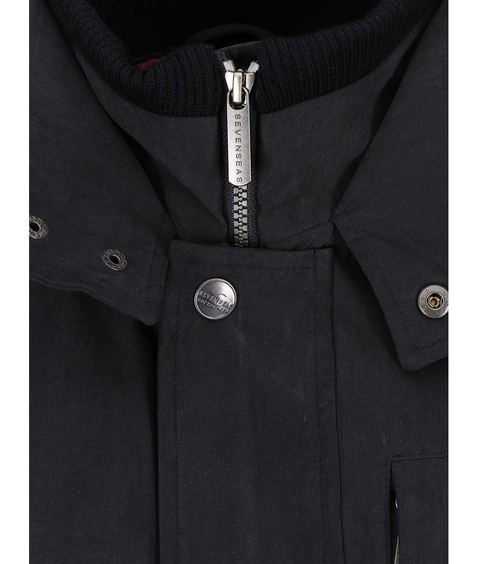 Černý kabát Seven Seas Douglas