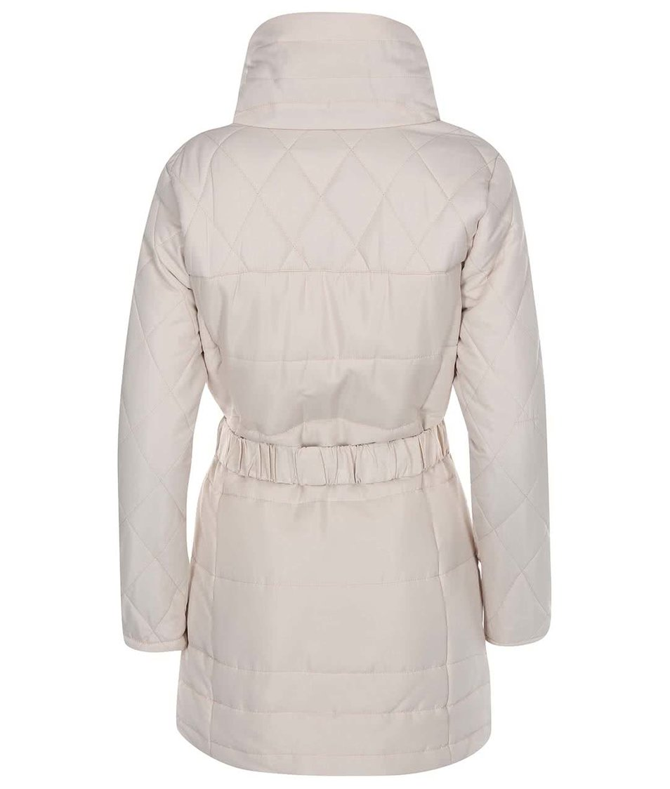 Krémový prošívaný kabát Vero Moda Linea