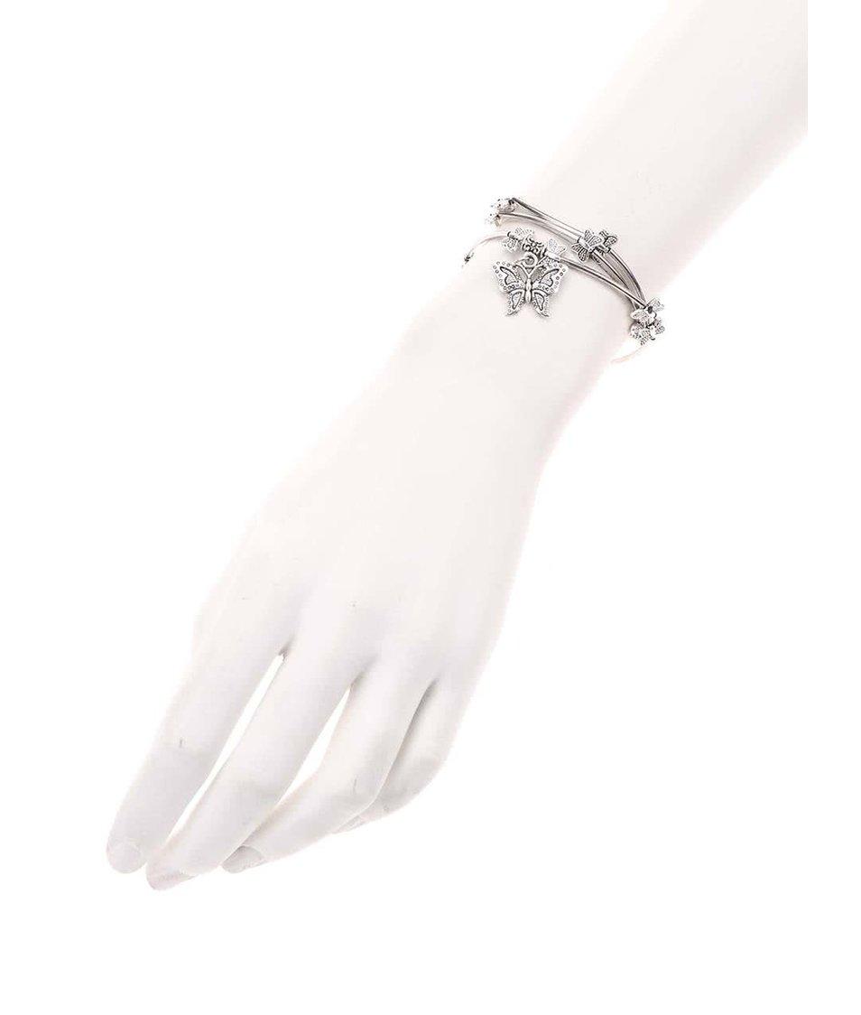 Náramek ve stříbrné barvě s motýly Joe Cool