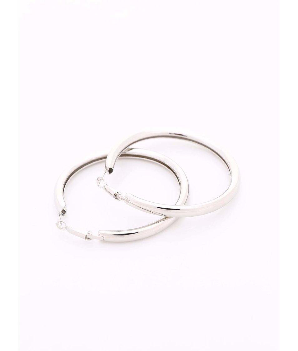 Kruhové náušnice ve stříbrné barvě Joe Cool