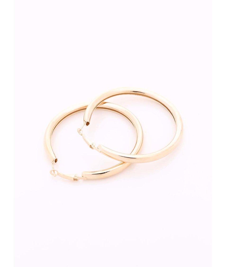Kruhové náušnice ve zlaté barvě Joe Cool
