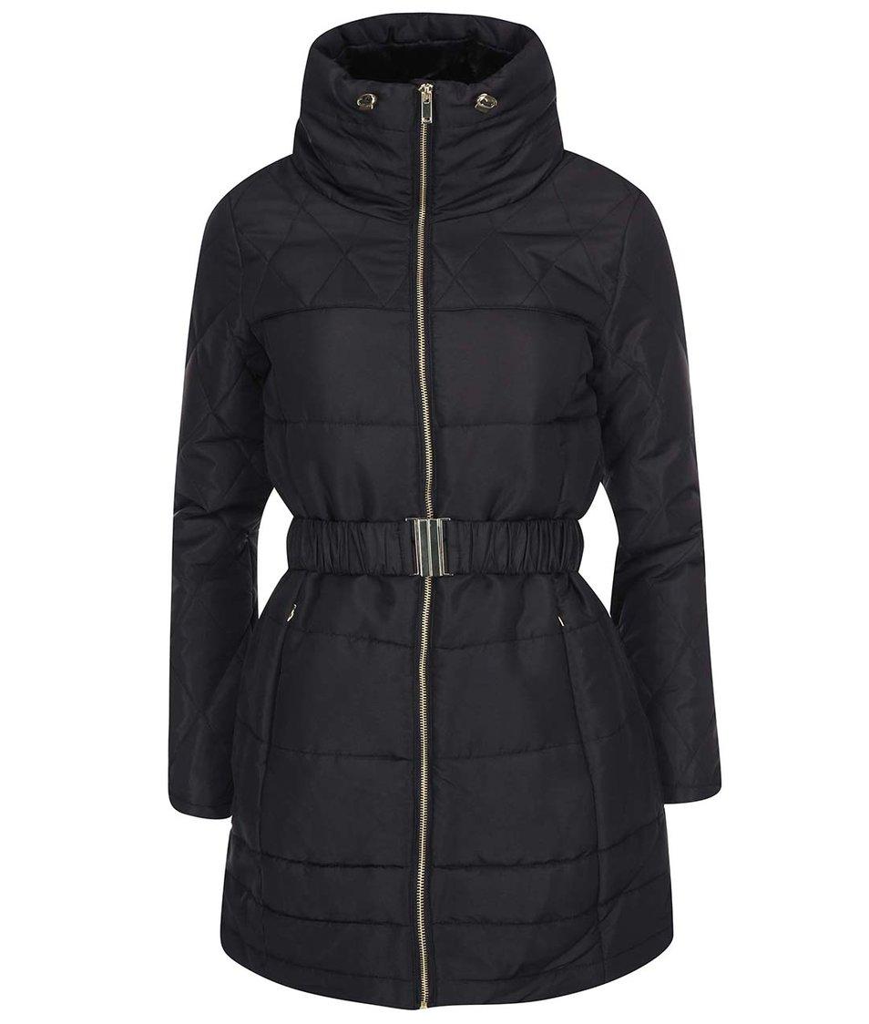 Černý prošívaný kabát Vero Moda Linea