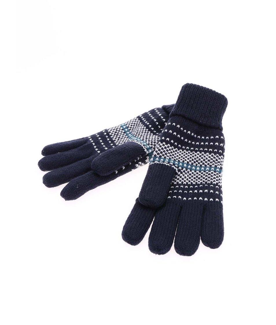 Tmavě modré pletené rukavice Brakeburn