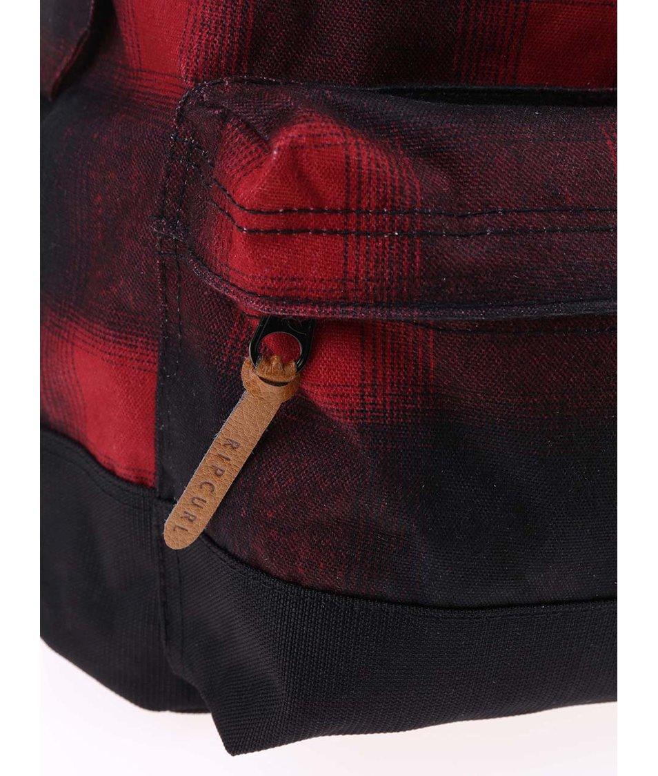 Černo-červený kostkovaný batoh Rip Curl Dome Ombre