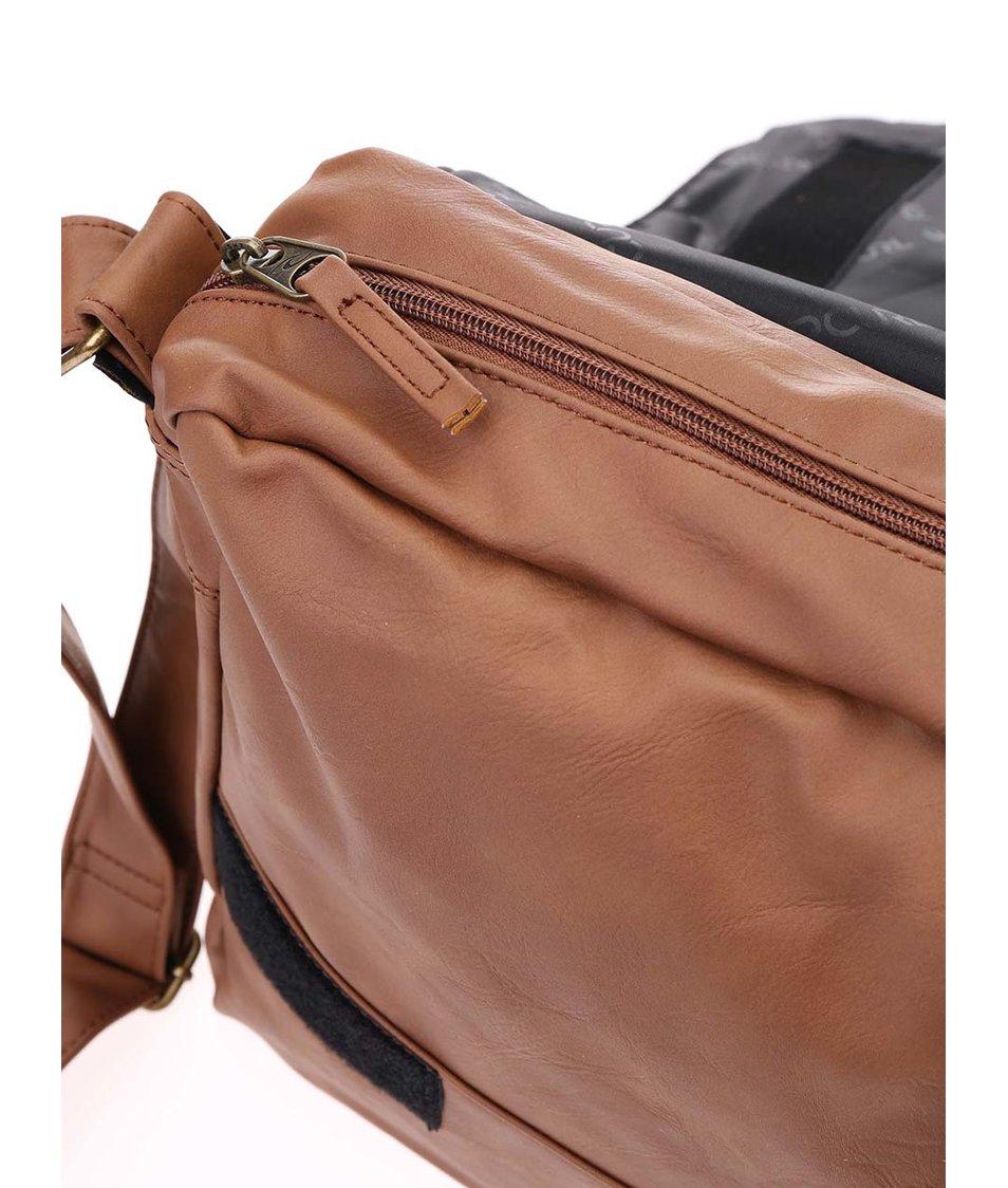 Světle hnědá pánská taška přes rameno Rip Curl Lezard Satchel
