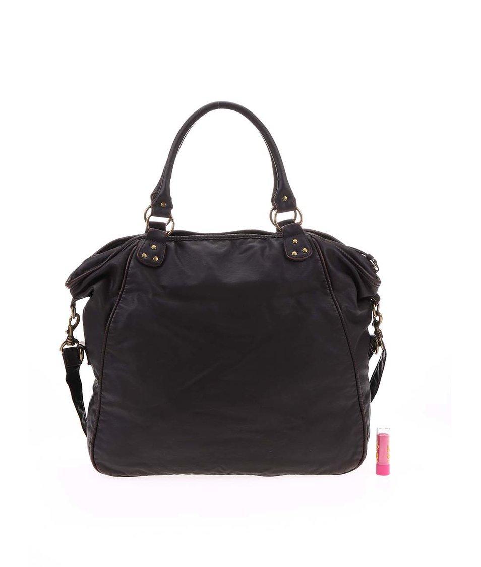 Hnědá dámská kabelka s barevnou kapsou Rip Curl Harricana
