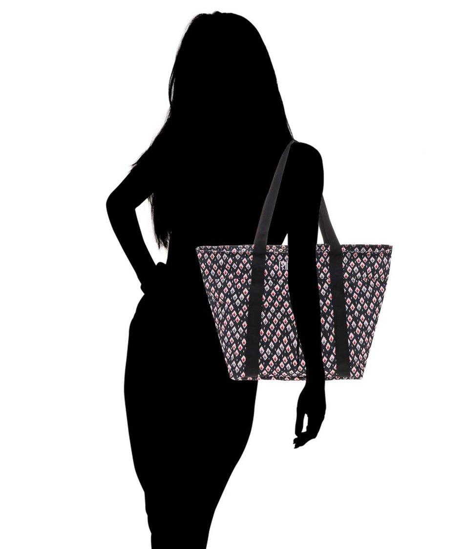 Černý vzorovaný shopper Rip Curl Oosta