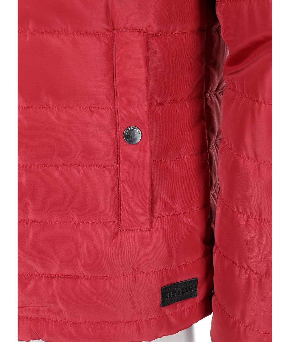 Červená prošívaná bunda ONLY & SONS Sean