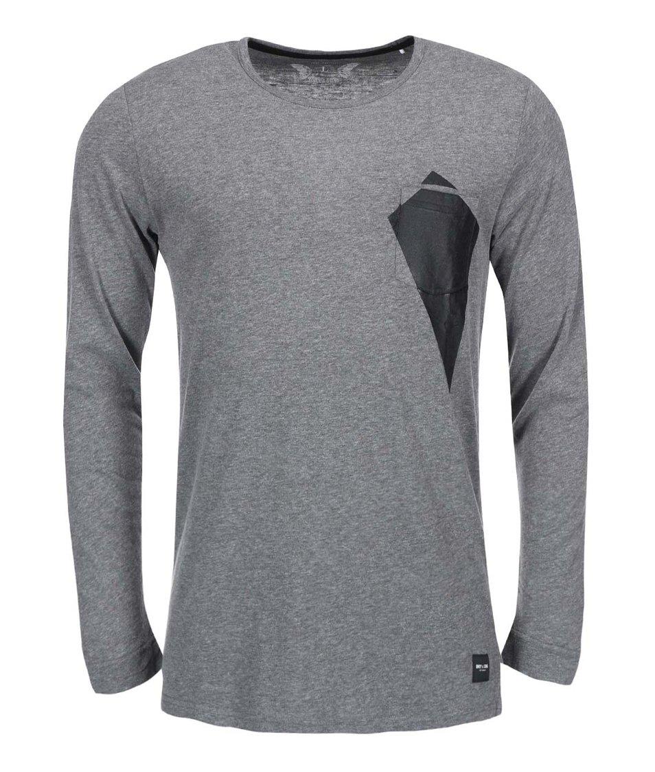 Tmavě šedé triko s dlouhým rukávem ONLY & SONS Niles