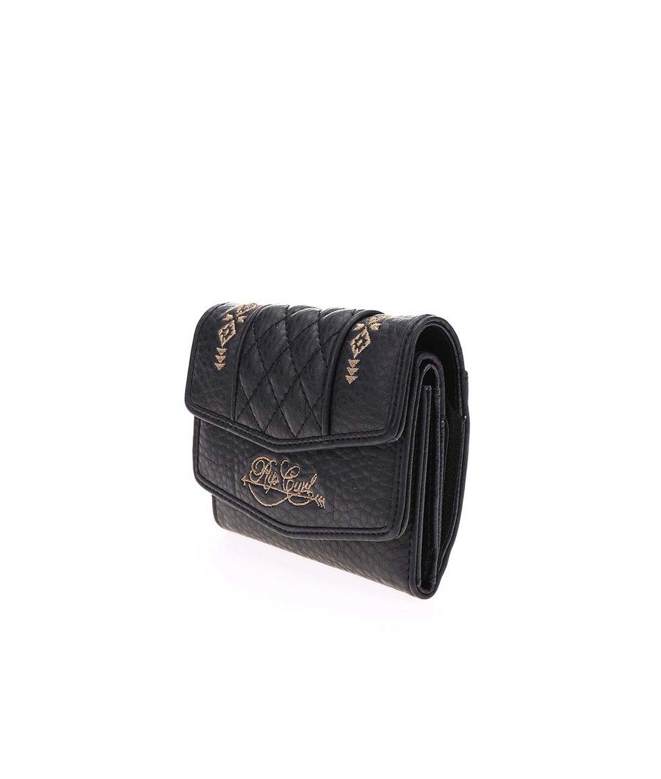 Černá dámská peněženka s ozdobnými detaily Rip Curl Nass