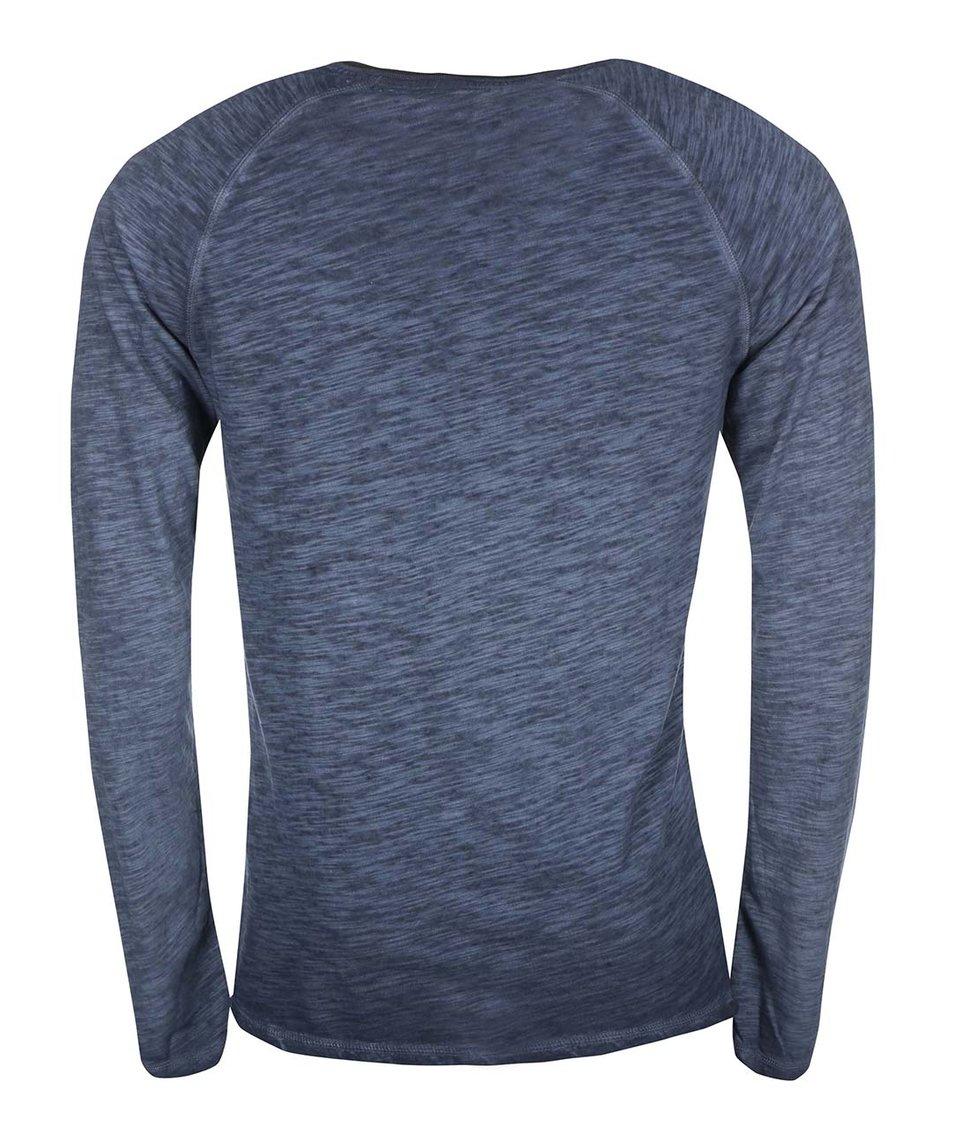 Tmavě modré triko s dlouhým rukávem ONLY & SONS Walker