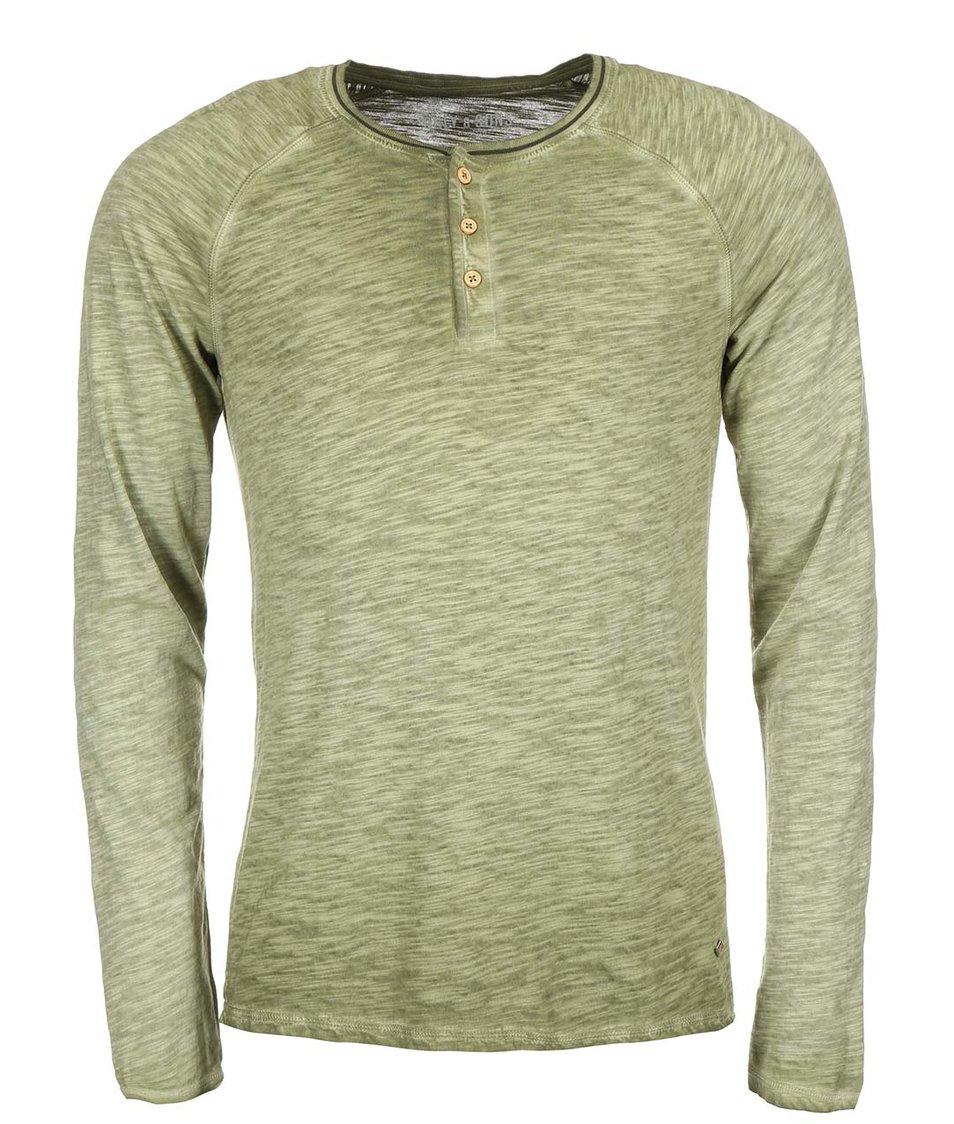 Zelené triko s dlouhým rukávem ONLY & SONS Walker