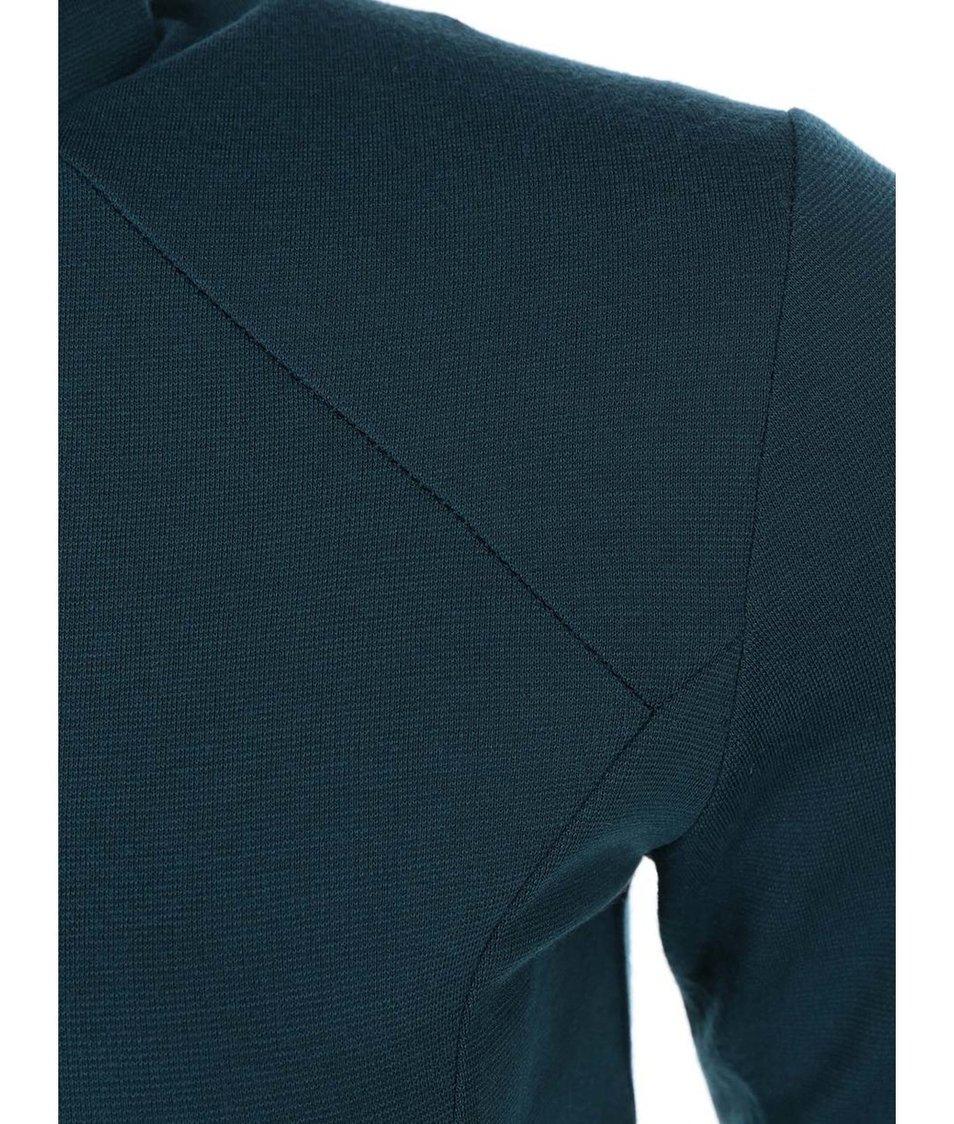 Petrolejové přiléhavé šaty s krátkými rukávy rukávy AX Paris