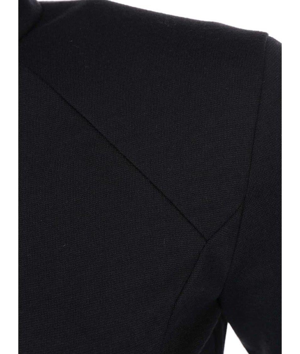 Černé přiléhavé šaty s krátkými rukávy AX Paris