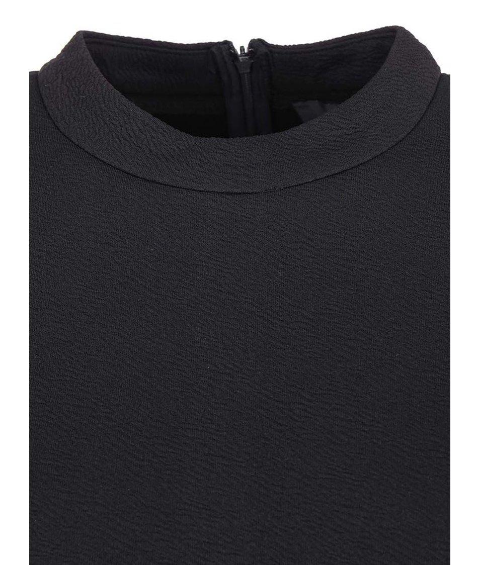 Černé přiléhavé šaty s dlouhým rukávem AX Paris