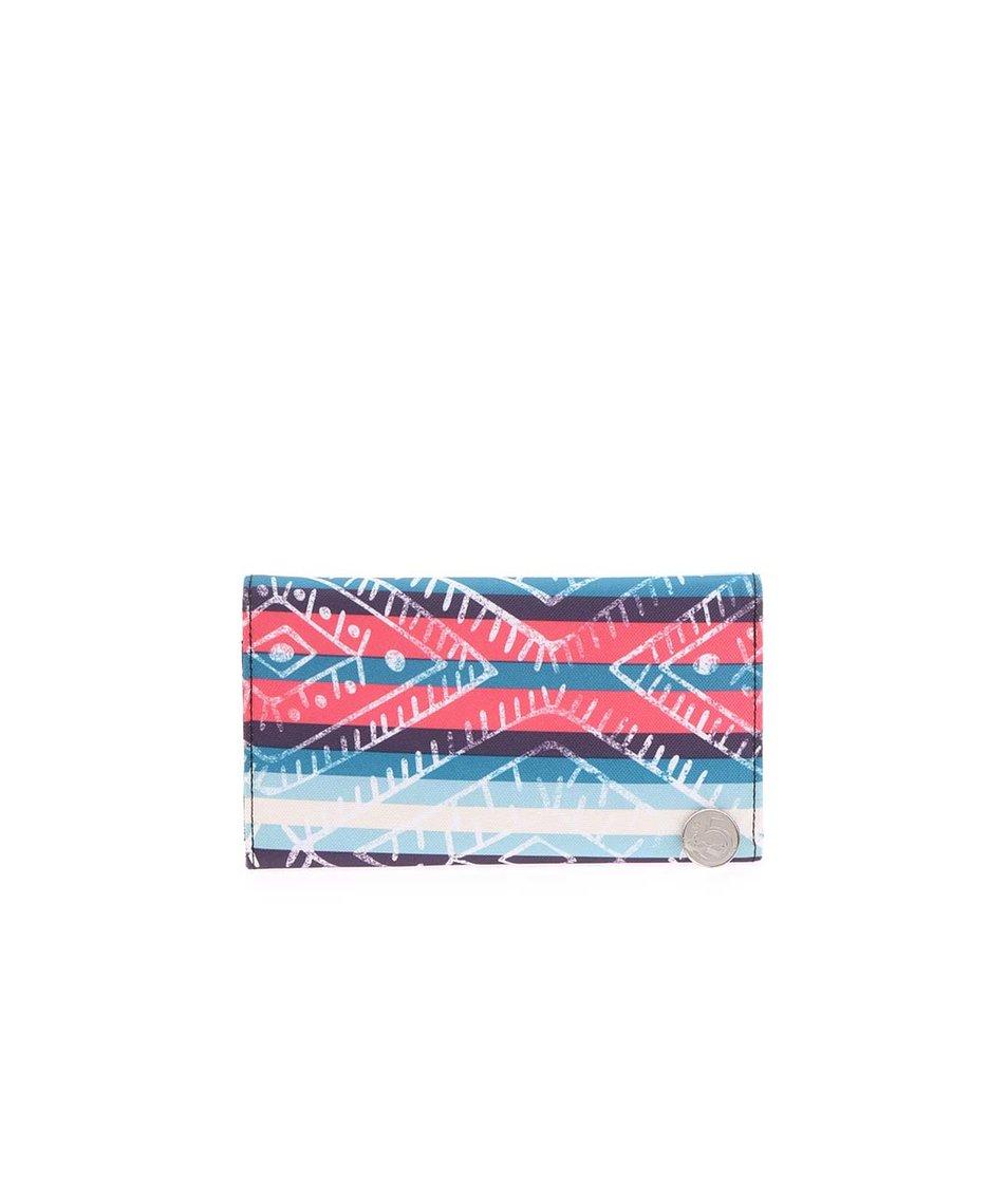 Barevná dámská pruhovaná peněženka Rip Curl Ethnic