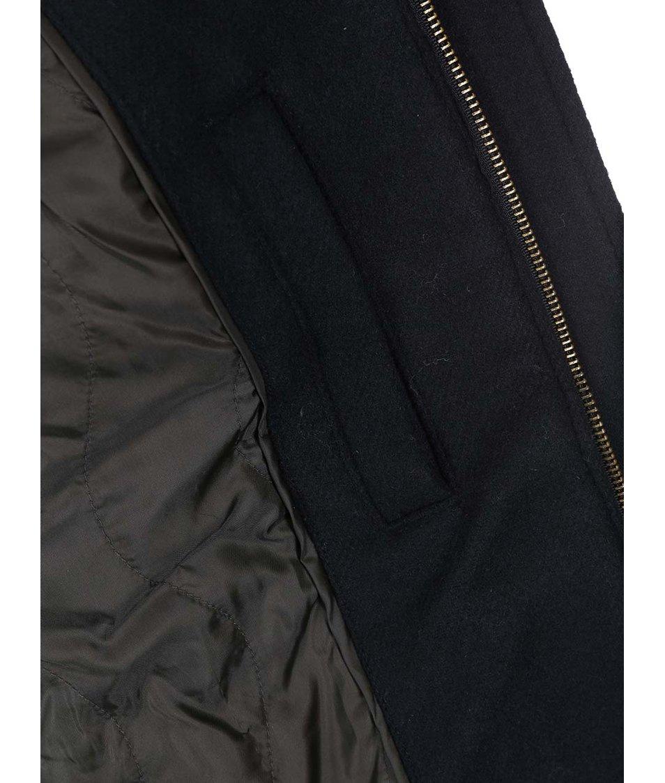 Černý kabát s kapucí ONLY & SONS Tommy