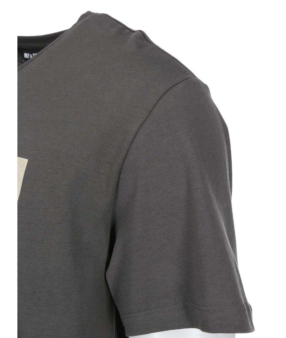 Khaki triko s potiskem ONLY & SONS Neller