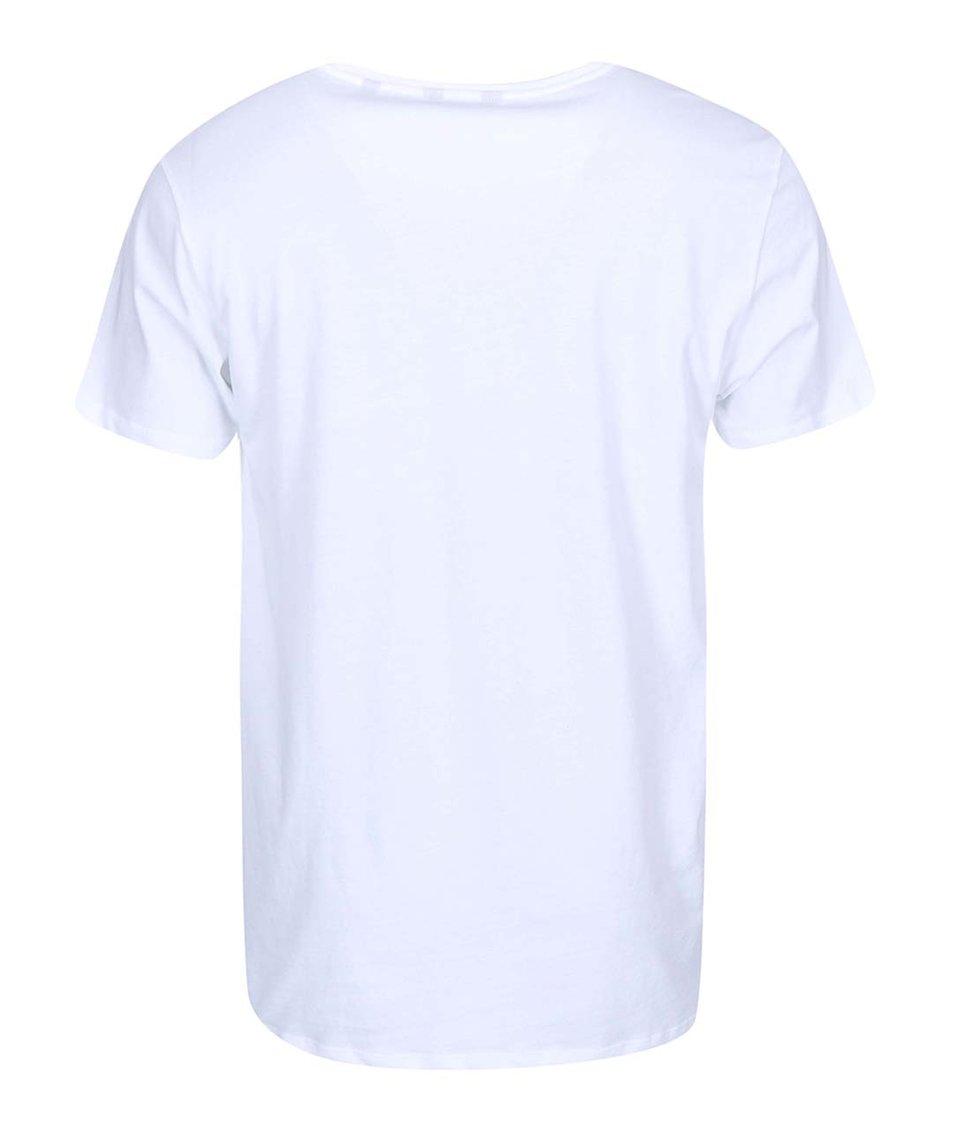 Bílé triko s potiskem ONLY & SONS Neller