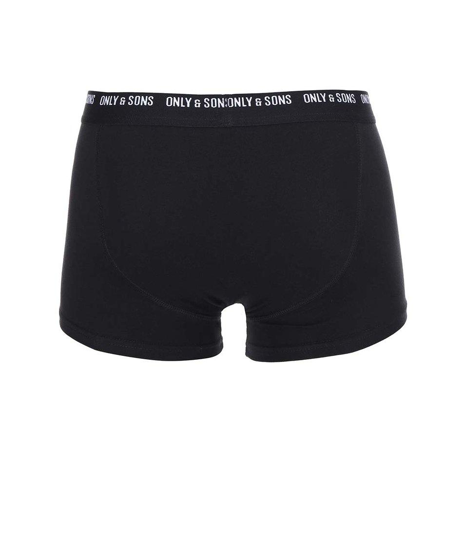 Černé boxerky ONLY & SONS Sigurd