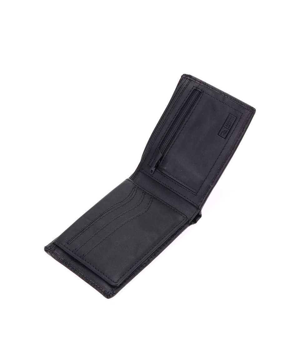 Černá pánská kožená peněženka Rip Curl Detail All Day