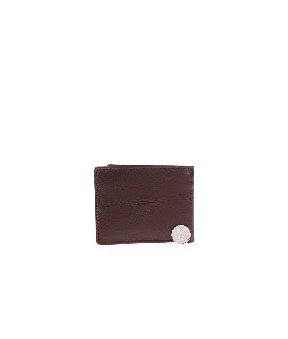 Hnědá pánská kožená peněženka s logem Rip Curl Blade