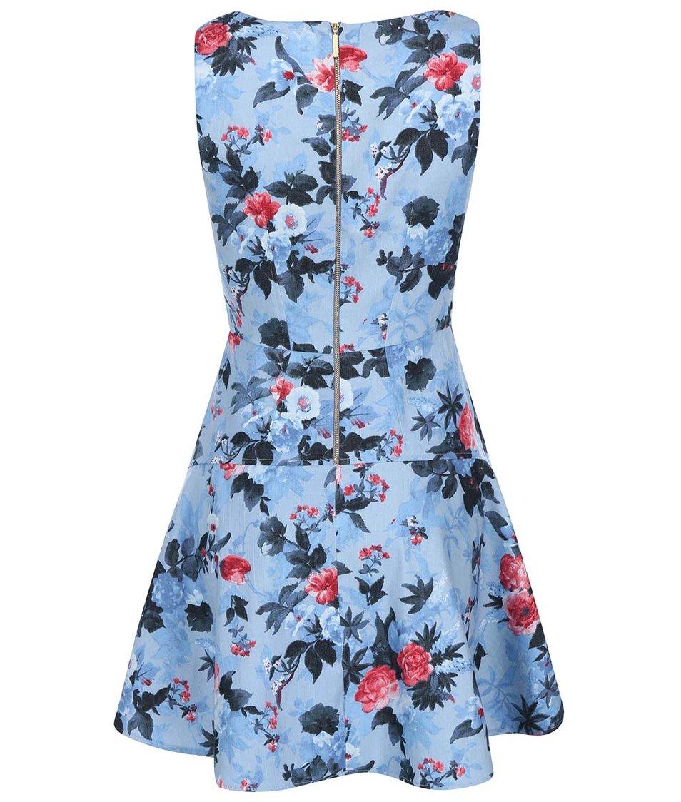 Modré šaty s květy Closet