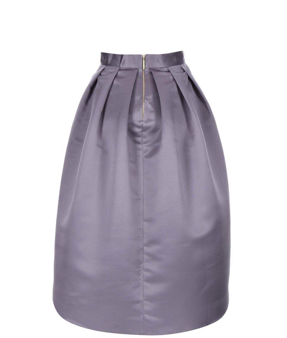 Světle fialová lesklá sukně s kapsami Closet