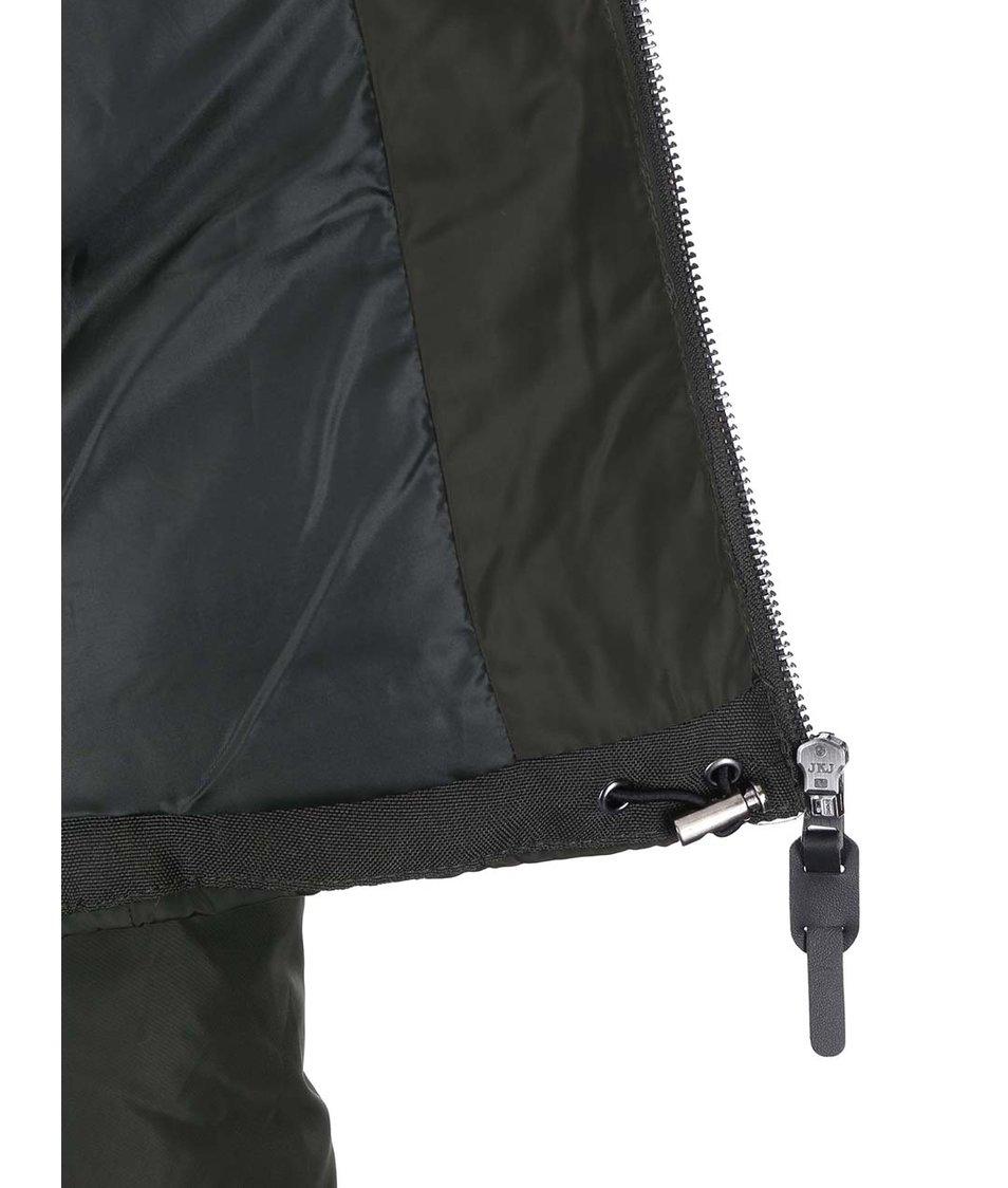 Zelenošedá prošívaná bunda ONLY Lana