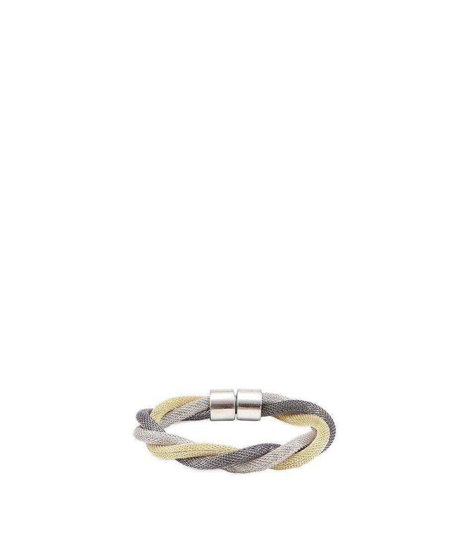 Proplétaný náramek ve stříbrno-zlaté barvě Joe Cool