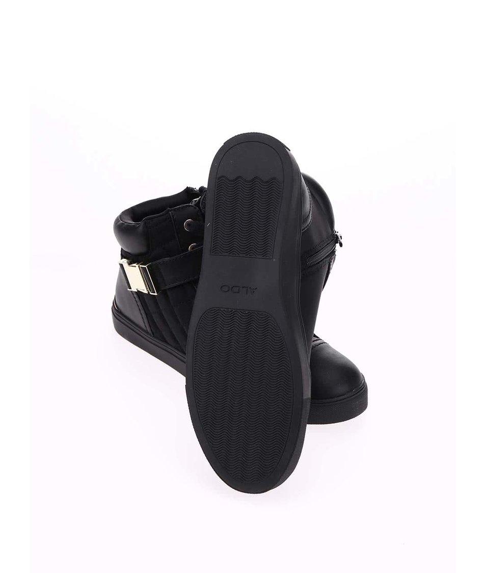 Černé kotníkové tenisky s přezkou ALDO Hailisen