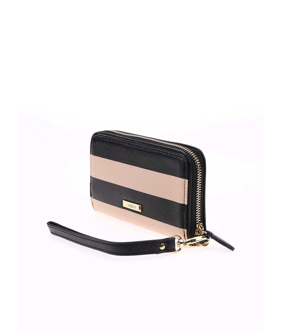 Černo-béžová pruhovaná peněženka ALDO Lambright